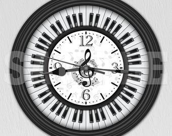 Piano Keys Decorative Wall Clock ITEM#031