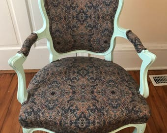 French Provincial Arm Chair Redone