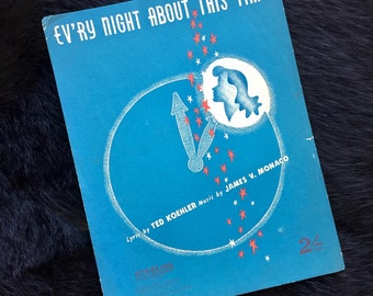 Ev'ry Night About This Time 1942 Sheet Music