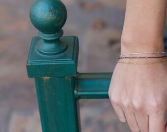 dainty layering bracelet, gold bracelet, layered bracelet, thin chain, stacking bracelet