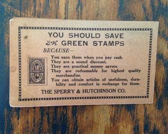 Green Stamps needle kit ~ vintage advertising