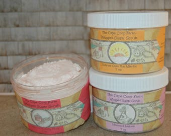 Luxury Whipped Sugar Scrub, lots of scents to choose! Handmade all natural exfoliating sugar scrub