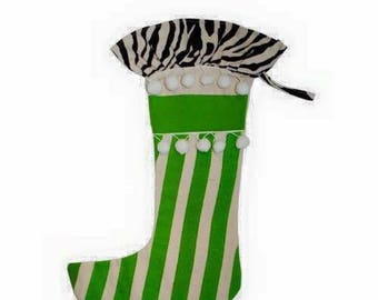 Monogrammed Christmas stocking SALE