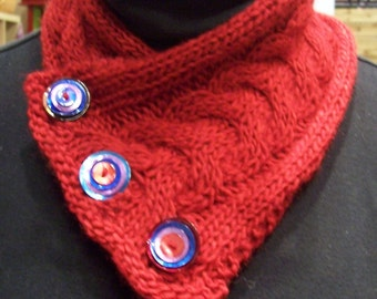Cabled Neckwarmer Pattern