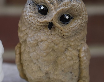 Owl soap,sculpted owl goat milk soap, natural hand made soap,baby owl statue soap bar, baby owl figurine soap,owl gift honey soap sheabutter