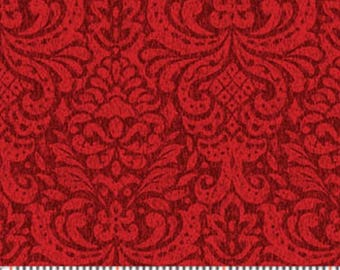 Father Frost Red Damask from Benartex by the yard