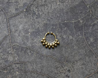 brass fake septum ring helix tragus cartilage earring boucle d'oreille en laiton faux piercing de nez