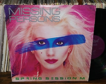 Missing Persons Spring Session M Vintage Vinyl Record