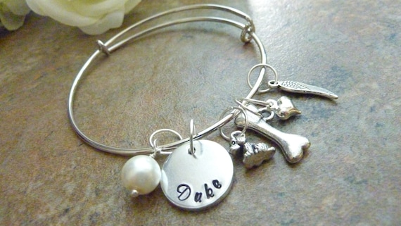 il name personalized listing bracelet charm memorial pet