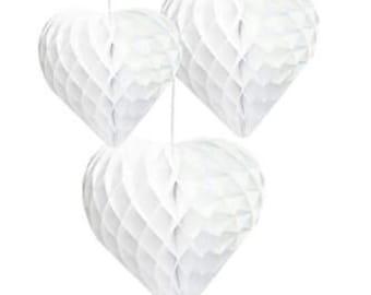 Decadent Decs White Honeycomb Hearts