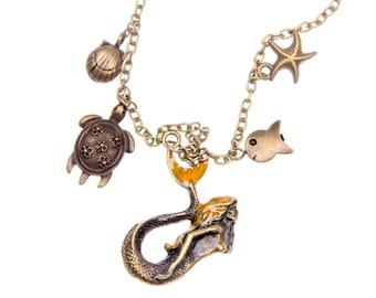 Necklace world of mermaid
