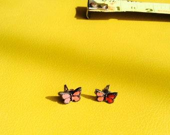 1980s Monarch Butterfly Stud Earrings