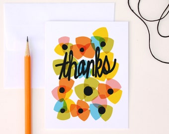 Thank Yous, Floral Thank You, Thank You Card Set, Blank Thank Yous, A2 Set of 8 Greeting Cards