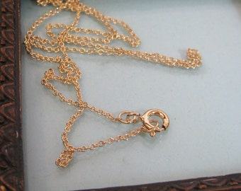 ADD ON:  14kt. Gold Filled basic cable chain - 16,18 or 20 inch length