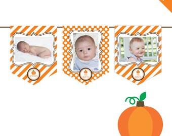 INSTANT DOWNLOAD Pumpkin Party - DIY printable photo banner kit