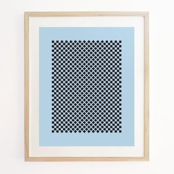 Geo Motion 2 - Geometric Pattern Screenprint. Art Poster Print.
