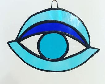 Third Eye, Blue Eye, Evil Eye, Stained Glass Third Eye, Third Eye Suncatcher