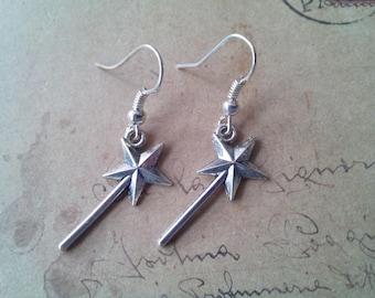 Magic wand earrings ~ silver ~