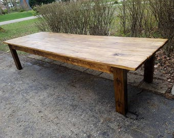 Kitchen table etsy rustic farm table reclaimed wood farm house primitive country cabin distressed large kitchen table custom sizes workwithnaturefo