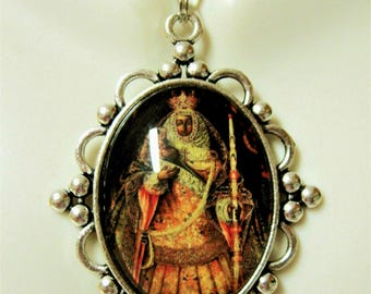 Our Lady of Candelaria pendant and chain - AP09-219