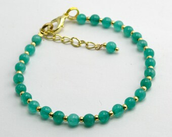 Friendship Bracelet with Jade Beads
