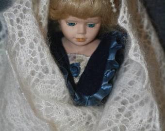 Orenburg style lace shawl ( stole )
