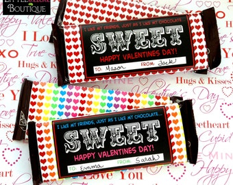 Printable Valentines Day Candy  Bar Wrappers,  INSTANT DOWNLOAD, DIY, Holiday wrappers, Hershey Wrappers, Children, Kids, Favor