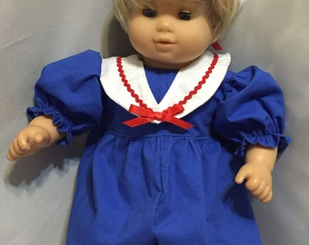 Baby Doll Sailor Suit/15 Inch Baby Doll/Granddaughter Gift/Gift for Daughter/Baby Doll Clothes/Goddaughter Gift/Gift for Niece/Gift for Girl