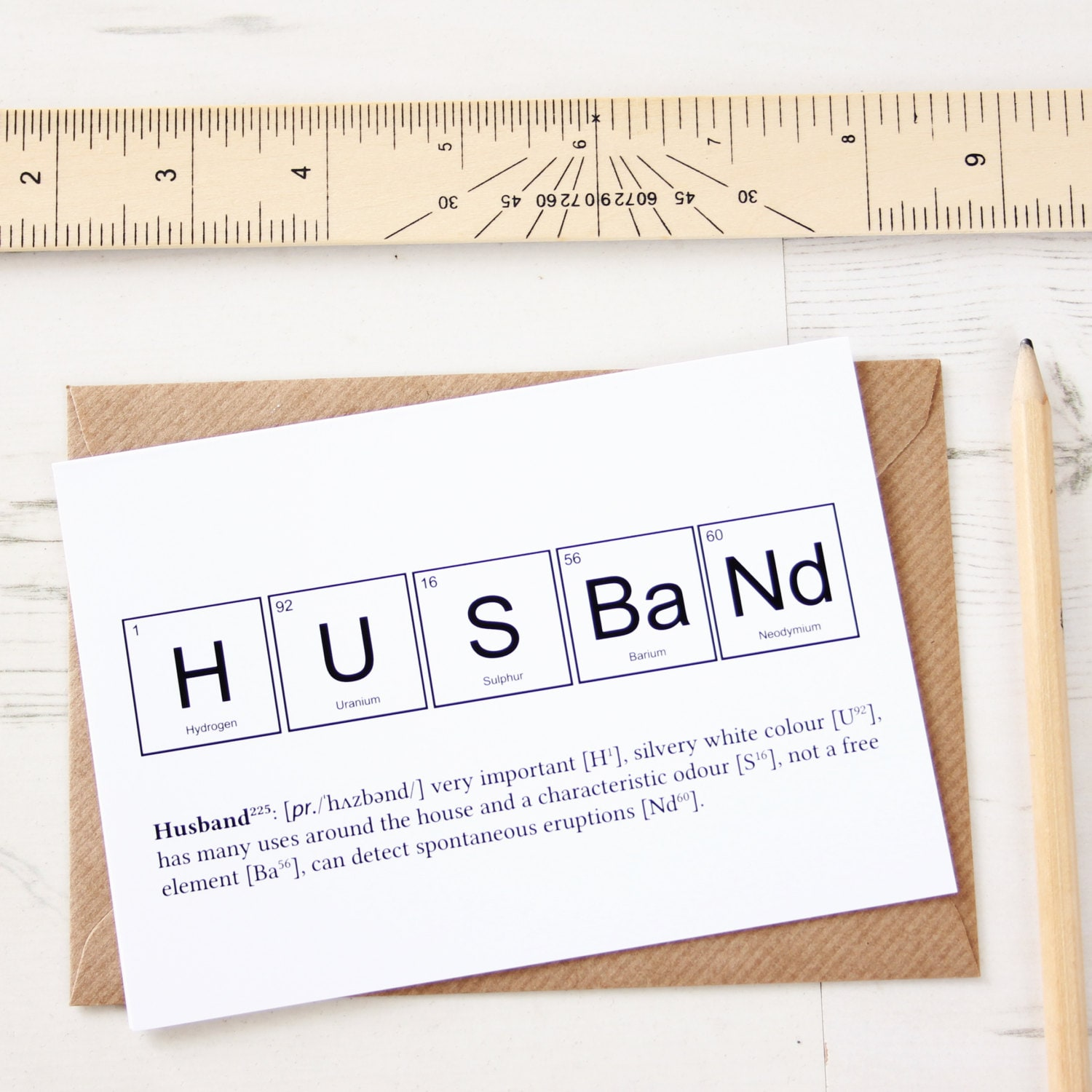 Funny husband elements card periodic table anniversary zoom kristyandbryce Choice Image