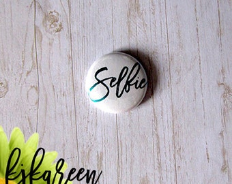 "Badge 1 ""- Selfie metallic turquoise"