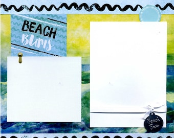 Beach Bums - 12x12 Premade Scrapbook Page