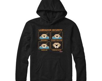 Funny Labrador Hoodie | Labrador Security | Yellow Lab