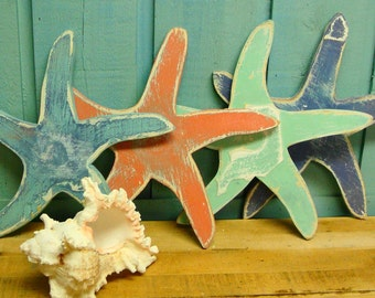 Starfish Sign Beach House Wall Art Decor by CastawaysHall