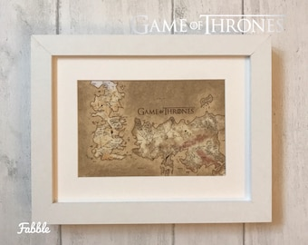 Game of Thrones wall decor - Westeros Essos map gift - Game of Thrones wall decal - Game of Thrones frame - seven kingdoms wall art fantasy