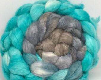 Sale Spinning Fiber Alpaca Superine/Yak/Mulberry/Firestar 37.5/25/25/12.5 - 5oz - Limestone Cliffs 1