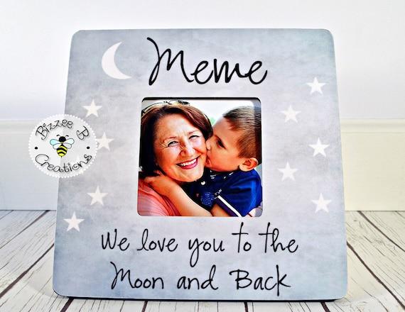 ON SALE Custom Picture Frame For Meme Mimi Gift for Grandma