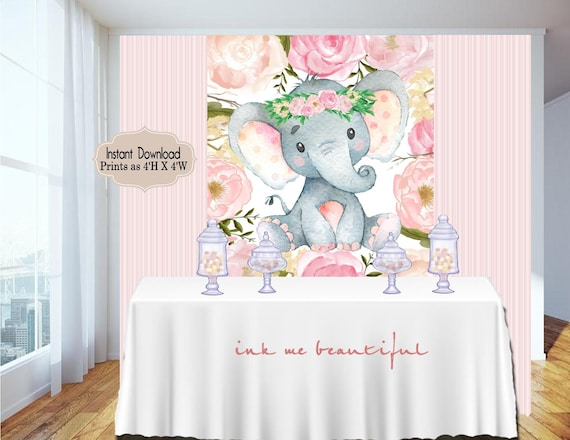 Candy Table Backdrop Baby Shower Birthday Party Blush