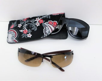 Black White Red Glasses Case, Case for Glasses, Sun Glass Case, Eye Glass Case, Gifts Under 10, Glasses Case, Sun Glasses Holder, Soft Case