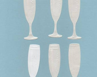 181 - Set of 6 cuts brand place champage flutes