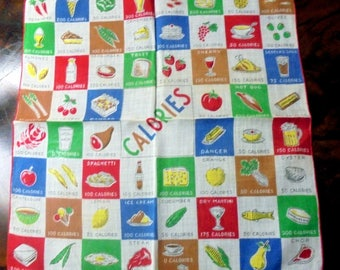 Calorie Counting Handkerchief