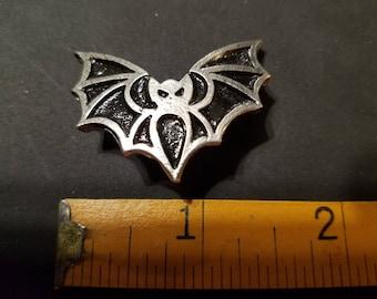 Single Pewter Bat Brooch