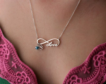 INFINITY PAW LOVE Necklace - Paw Love Jewelry - Name Necklace - Custom Necklace - New Puppy - Dog Necklace - Cat Necklace