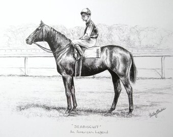 SEABISCUIT An American Legend Horse Racing Art