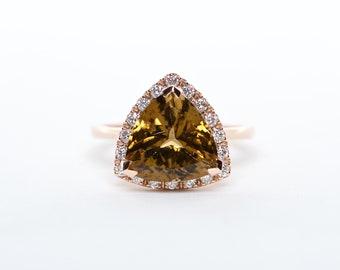 The Hailey - AAA 14K Tourmaline and Diamond ring