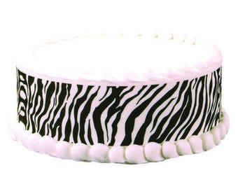 Zebra Print - Edible Image Cake Topper - 3 strips