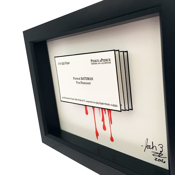American psycho patrick bateman business card 3d art reheart Image collections
