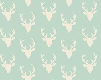 TINY Buck Forest Mint Green from Art Gallery's Hello Bear Collection