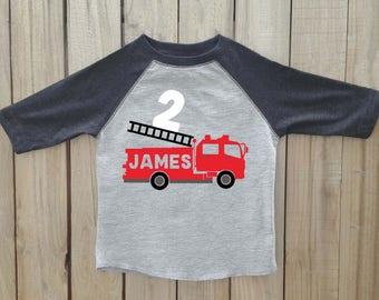Fire truck birthday shirt, boys birthday shirt, fire truck, fire truck party outfit, fire truck birthday, boys fire truck shirt, fire truck
