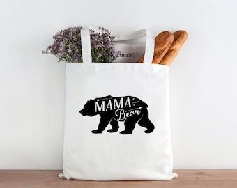 Mamma Bear Tote, Mamma bear, bear tote, tote bag, market bag, mothers gift, mothers day gift, mothers day, christmas present, mom christmas