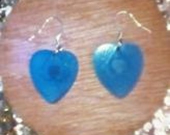 Acrylic Heart Earrings with exquisite detail